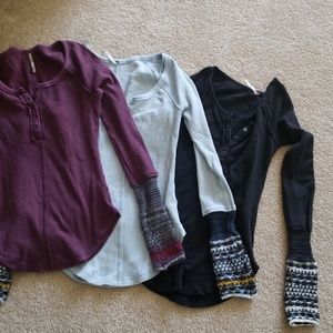 Lot 3 free people tops